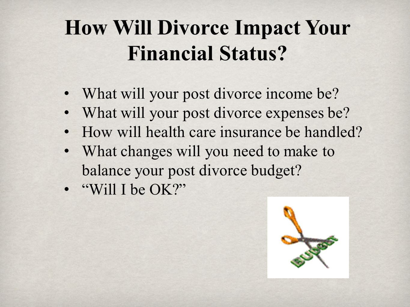How Will Divorce Impact Your Financial Status