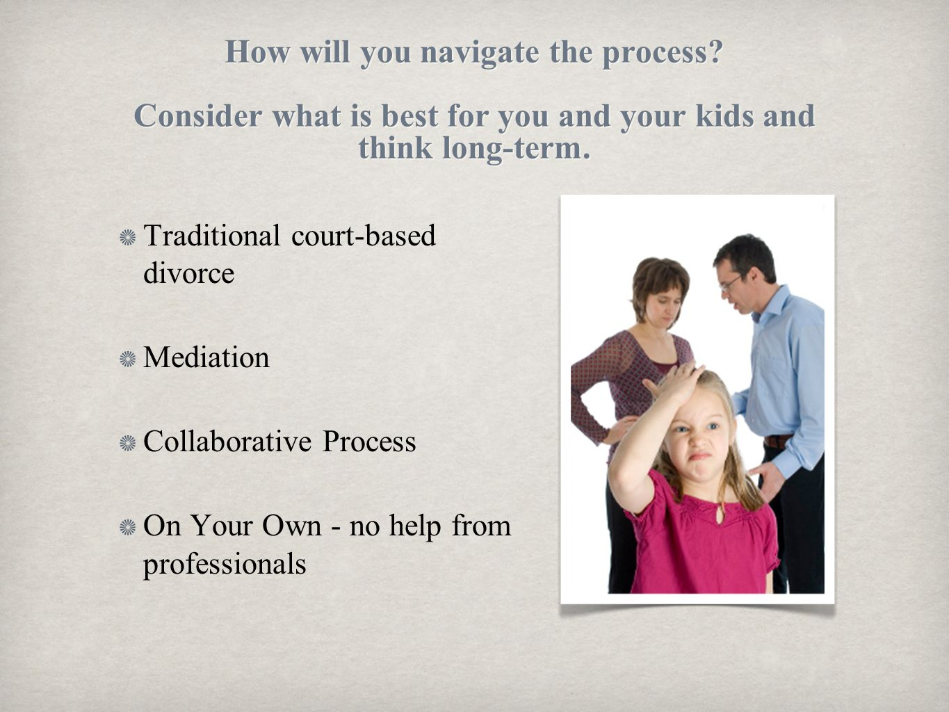 How will you navigate the process