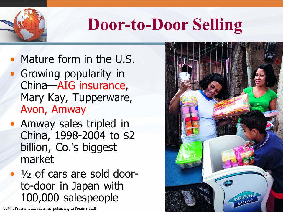Door-to-Door Selling Mature form in the U.S.