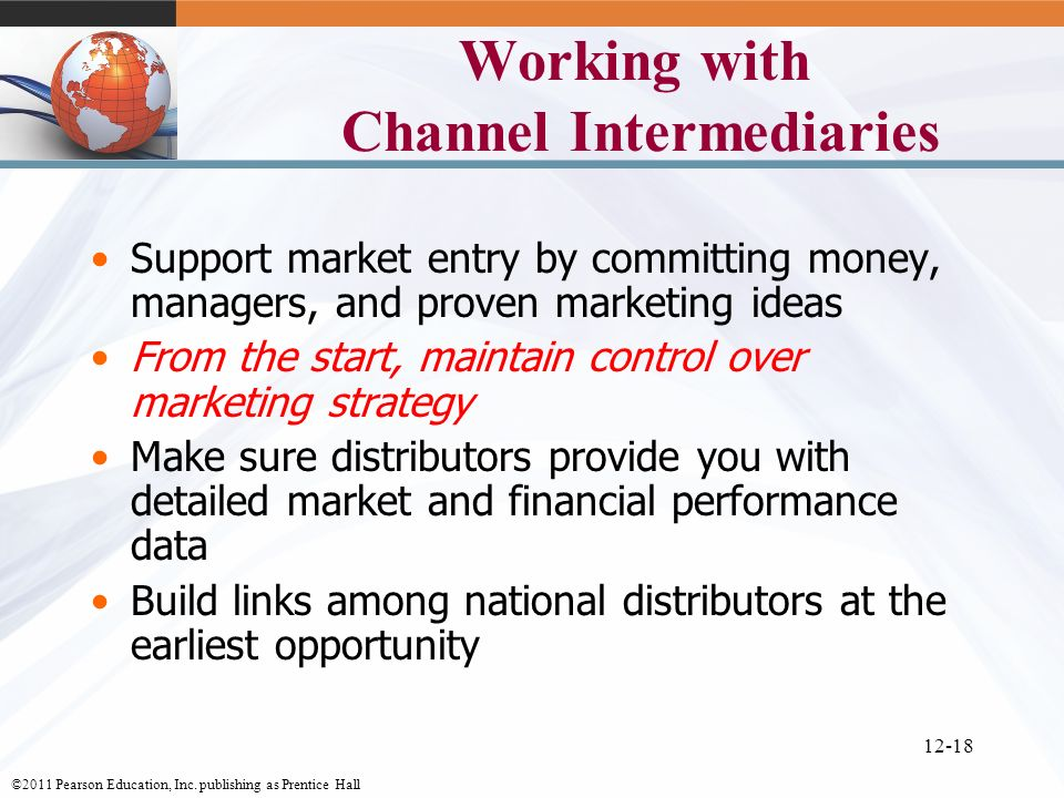 Working with Channel Intermediaries