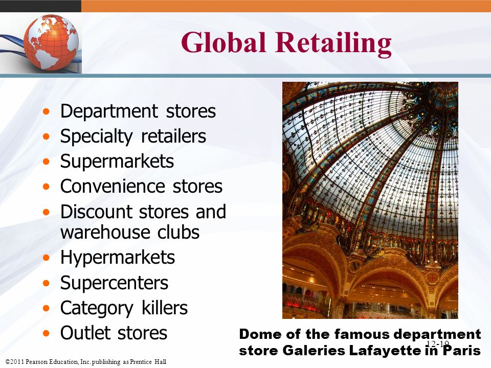 Dome of the famous department store Galeries Lafayette in Paris