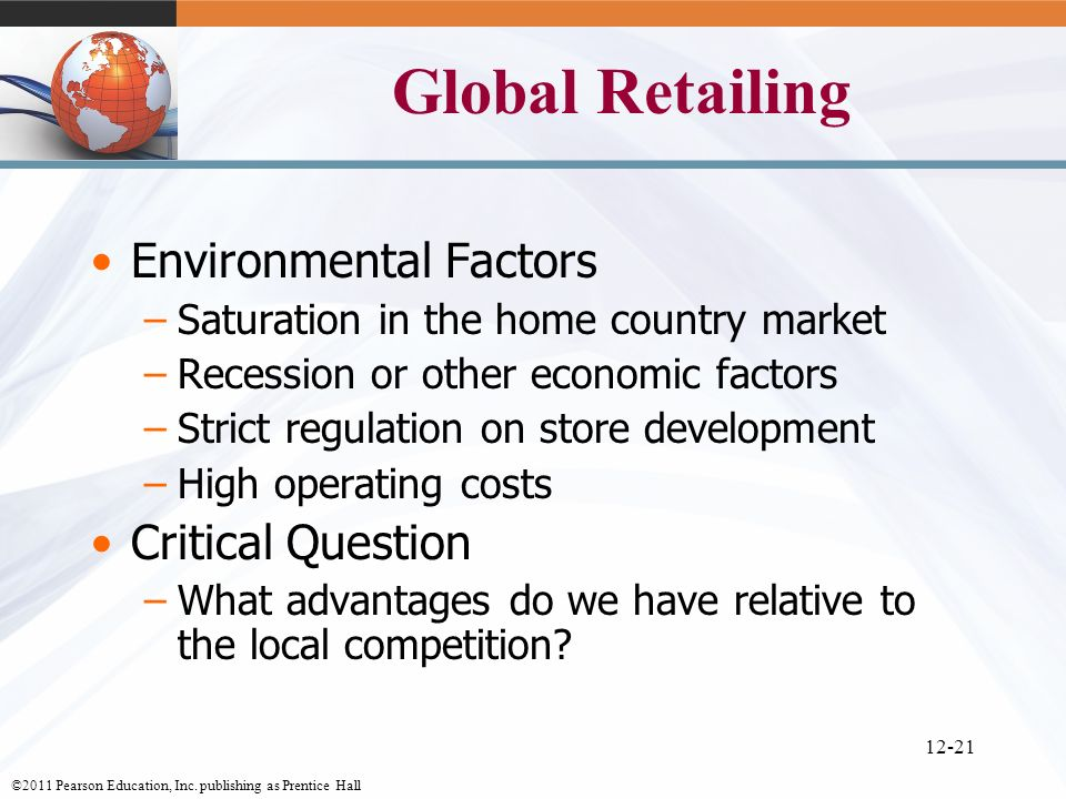 Global Retailing Environmental Factors Critical Question
