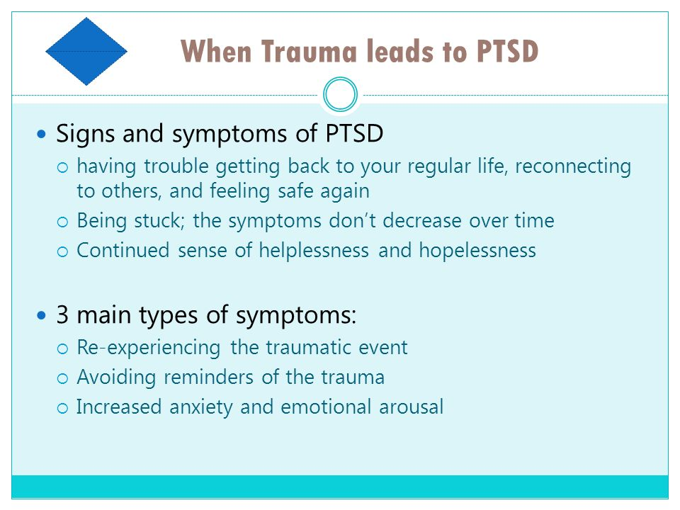 When Trauma leads to PTSD