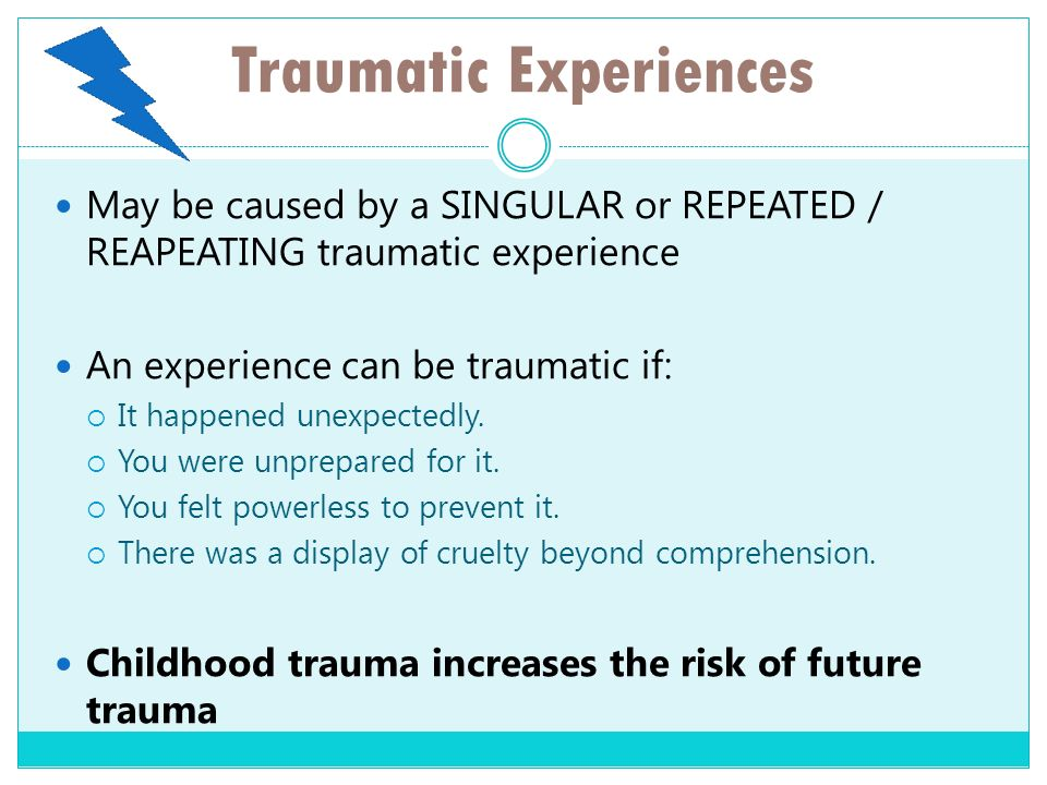 Traumatic Experiences