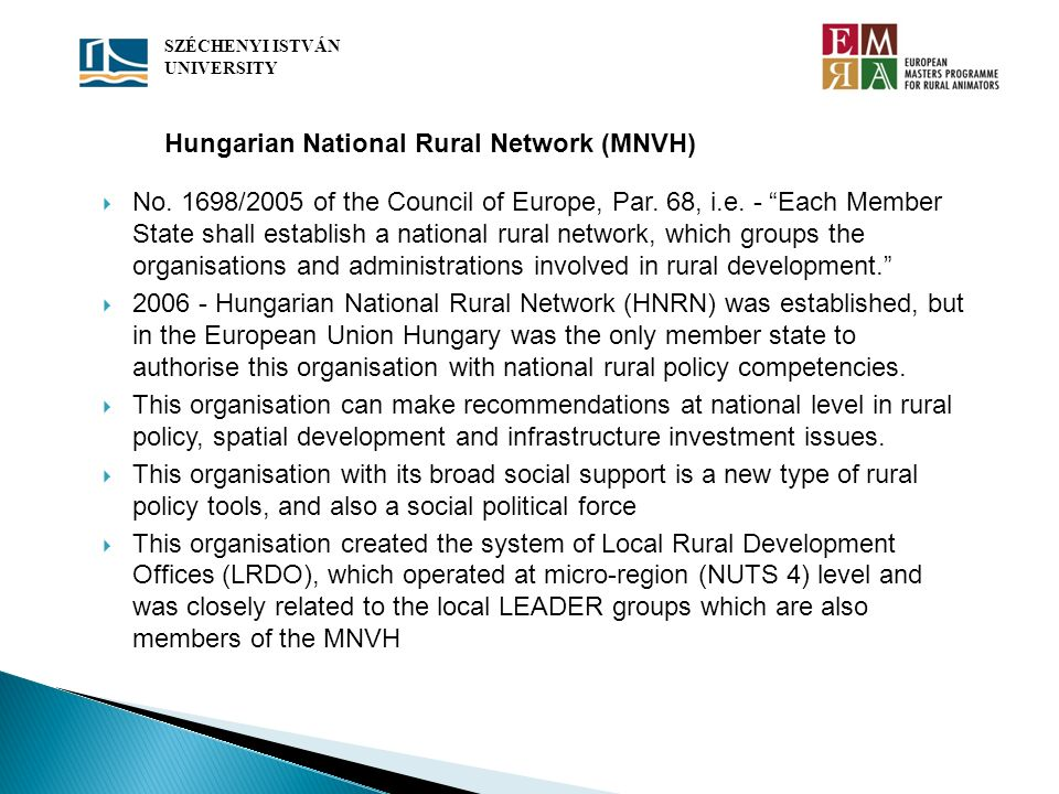 Hungarian National Rural Network (MNVH)