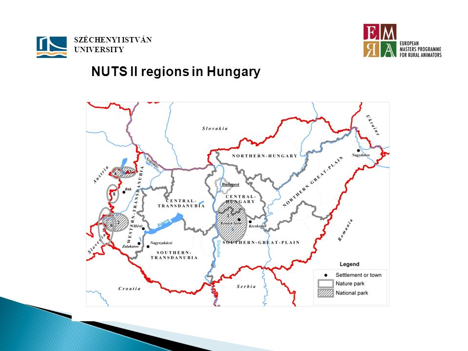NUTS II regions in Hungary