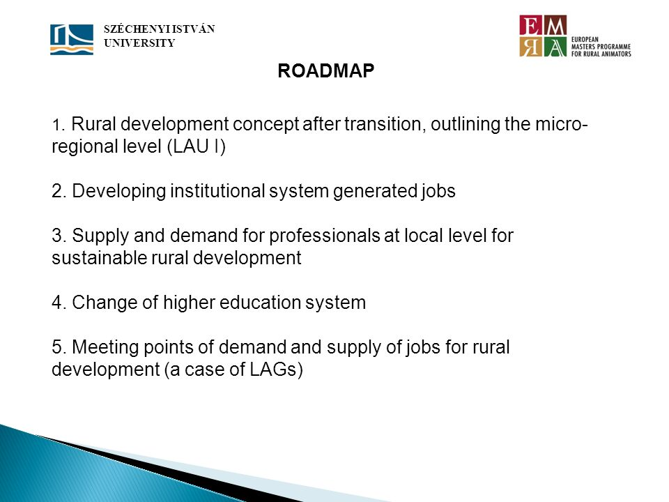 2. Developing institutional system generated jobs