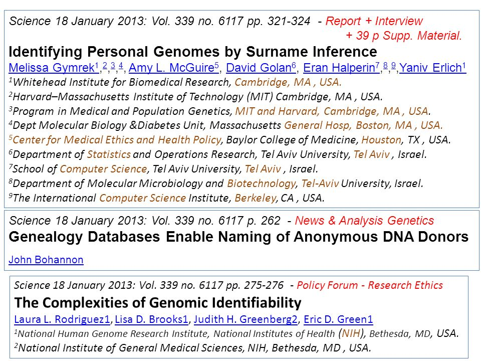 The Complexities of Genomic Identifiability