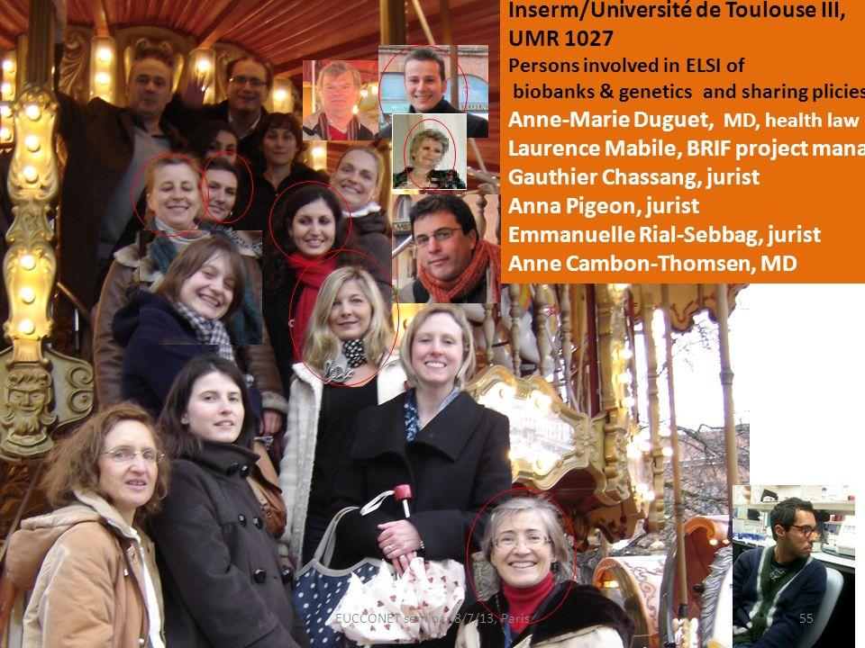 EUCCONET seminar 8/7/13, Paris