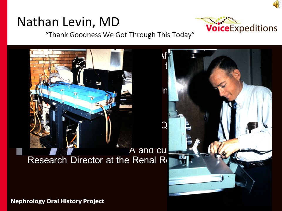 Nathan Levin, MD Thank Goodness We Got Through This Today