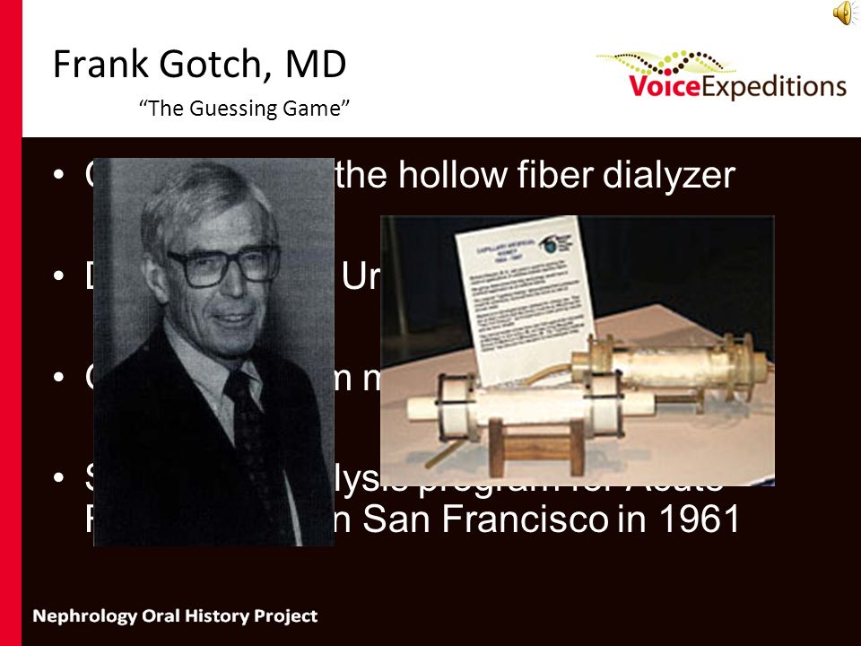 Frank Gotch, MD The Guessing Game