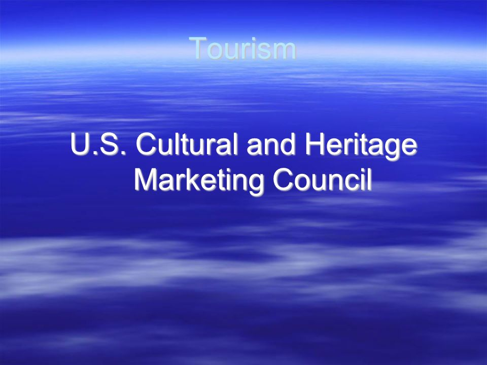 U.S. Cultural and Heritage Marketing Council
