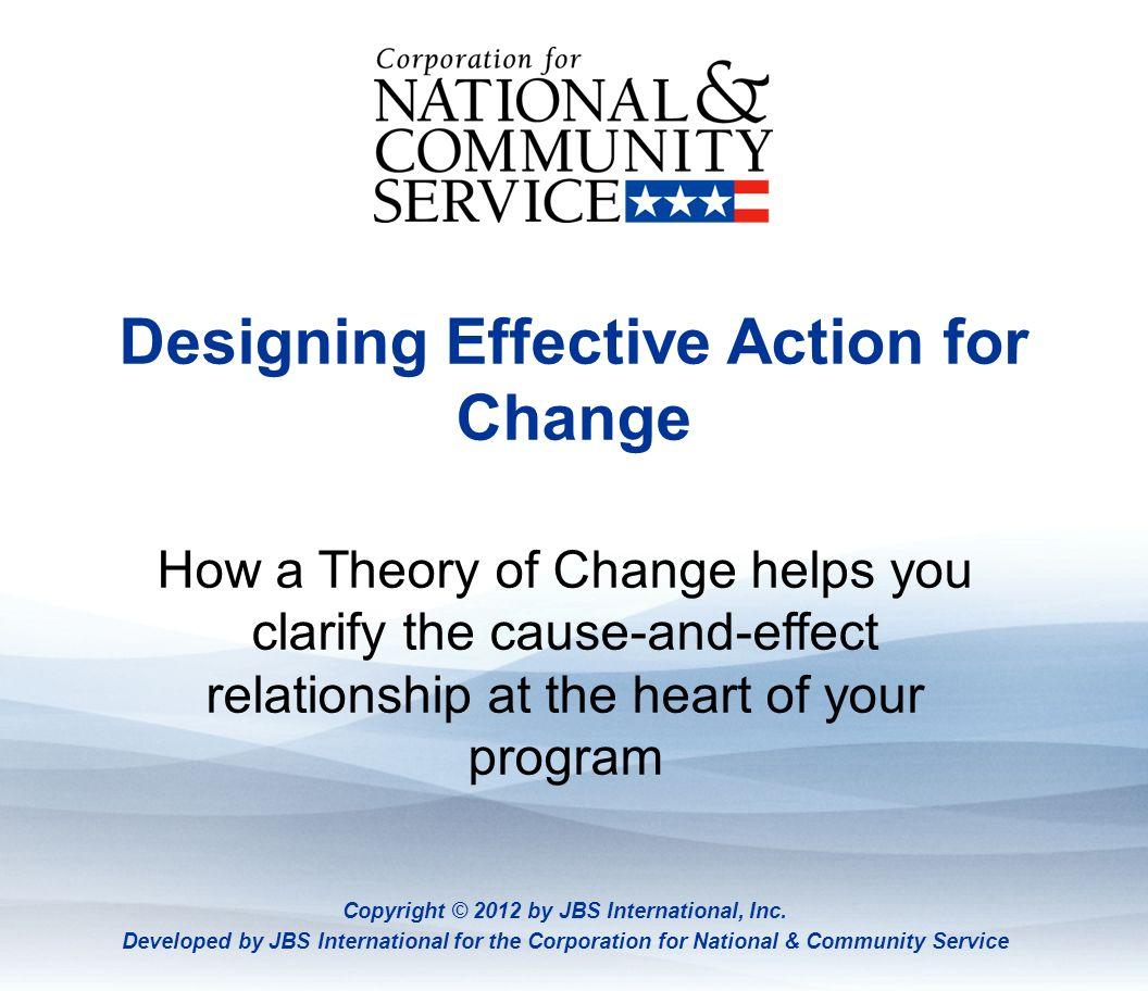 Designing Effective Action for Change