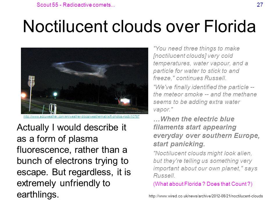 Noctilucent clouds over Florida