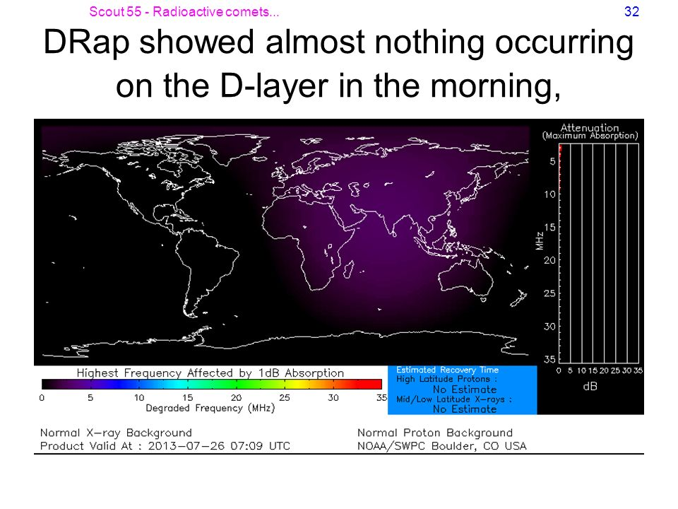 DRap showed almost nothing occurring on the D-layer in the morning,
