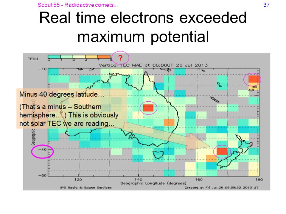 Real time electrons exceeded maximum potential