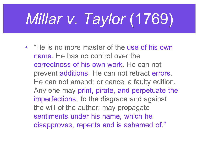 Millar v. Taylor (1769)