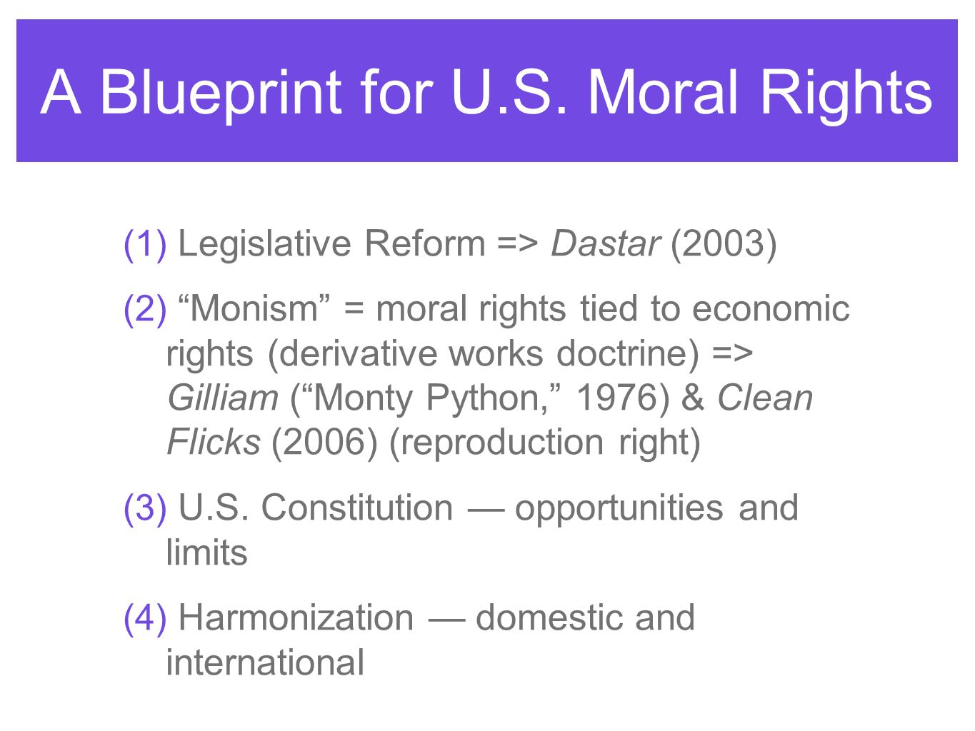 A Blueprint for U.S. Moral Rights