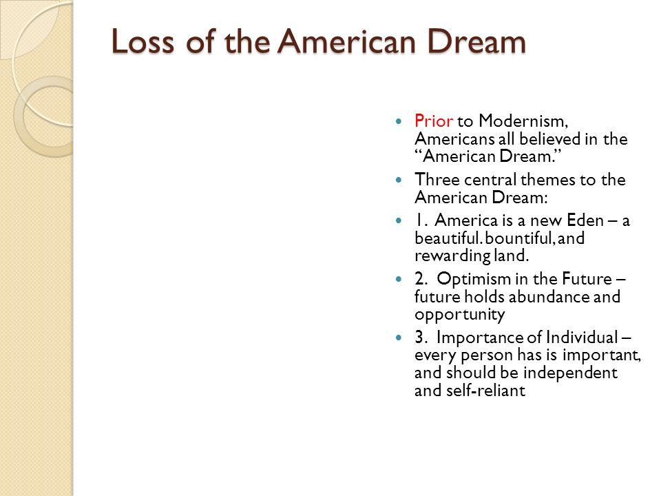 Loss of the American Dream