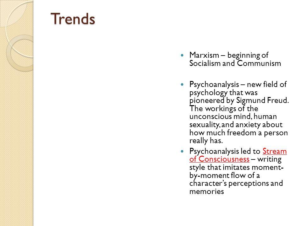 Trends Marxism – beginning of Socialism and Communism