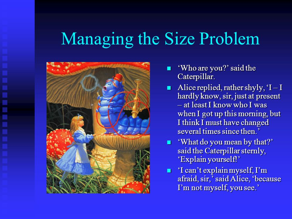 Managing the Size Problem