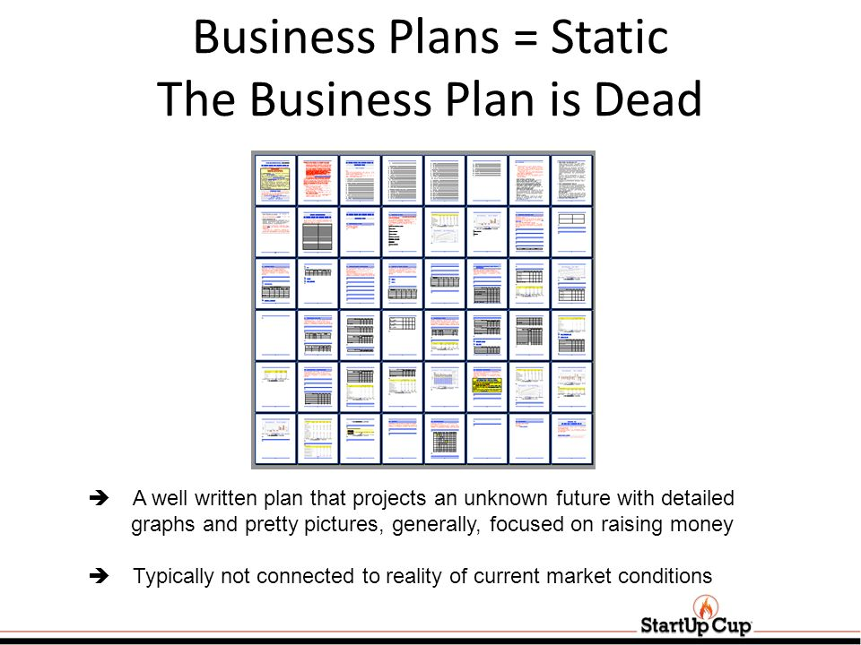 Business Plans = Static The Business Plan is Dead