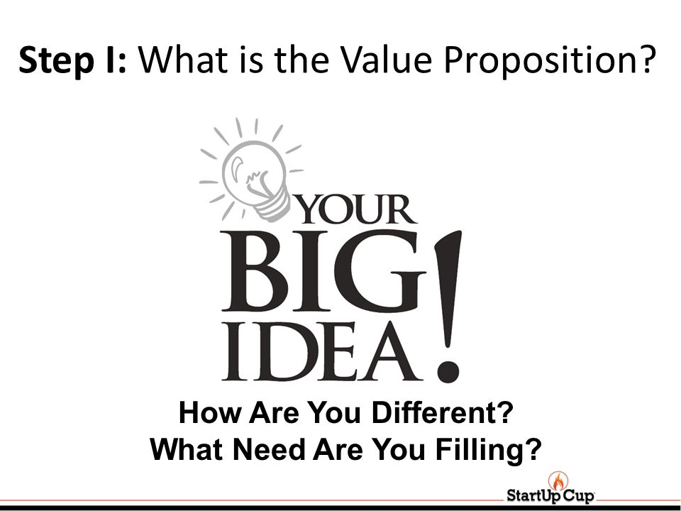 Step I: What is the Value Proposition