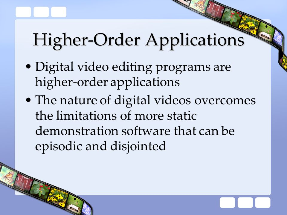 Higher-Order Applications