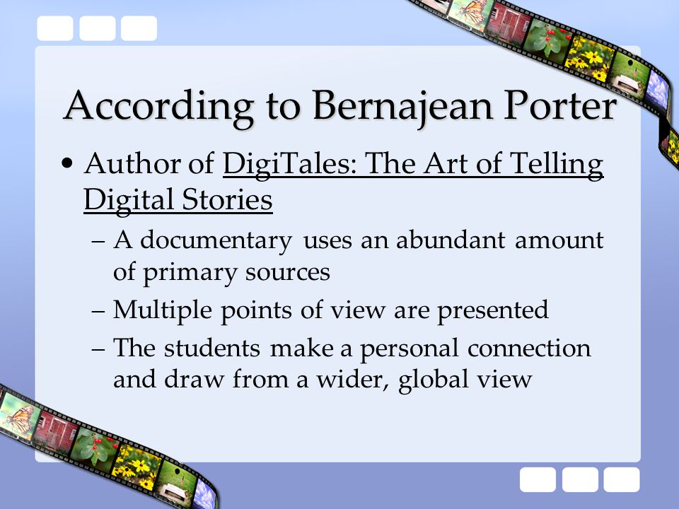 According to Bernajean Porter