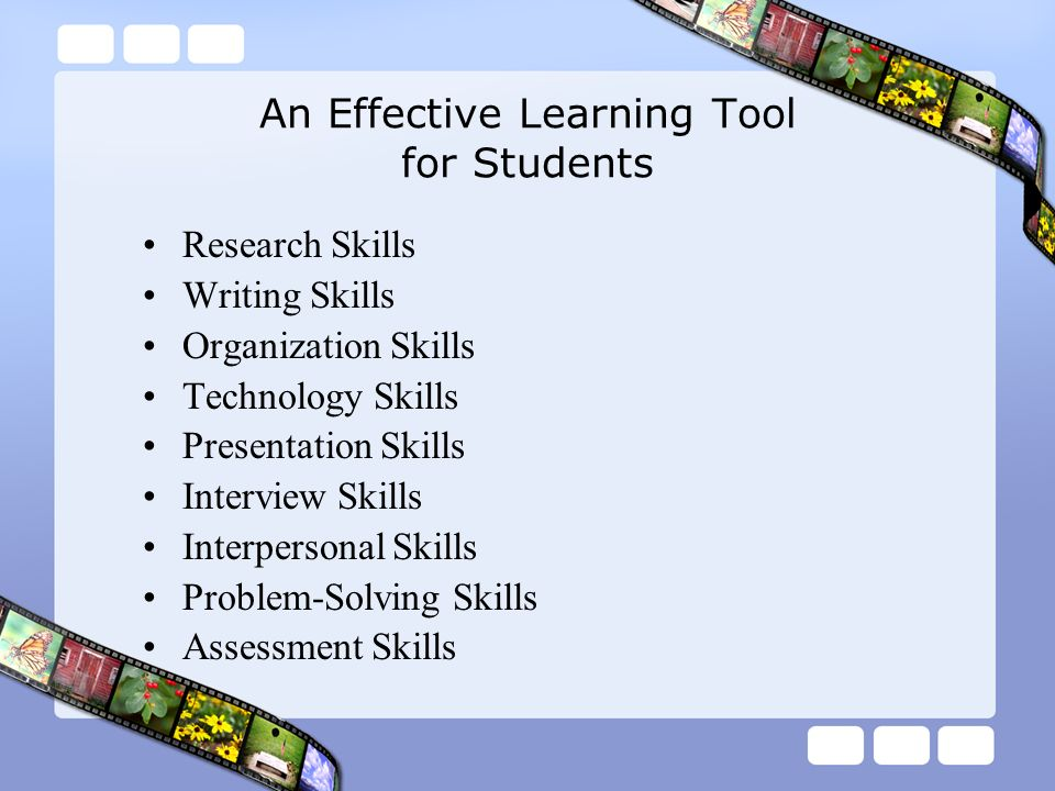 An Effective Learning Tool for Students