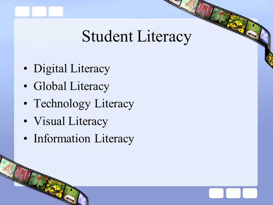 Student Literacy Digital Literacy Global Literacy Technology Literacy