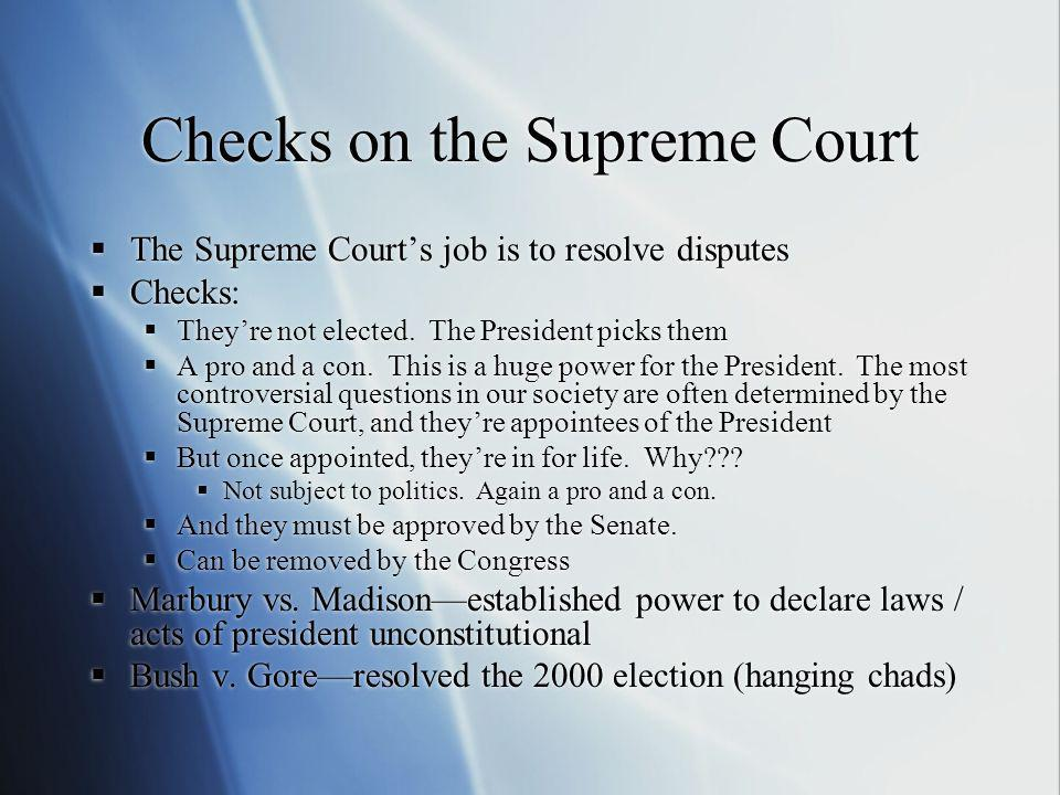 Checks on the Supreme Court