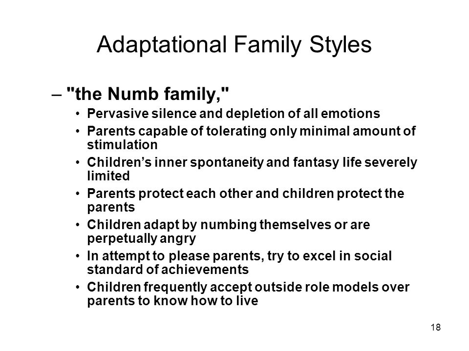 Adaptational Family Styles