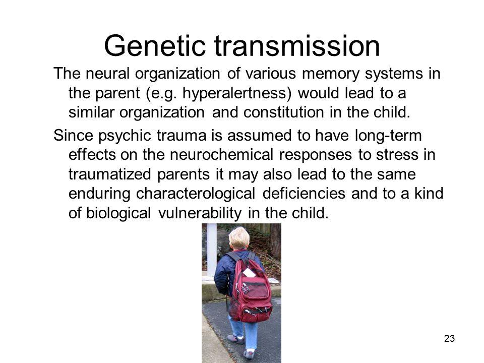 Genetic transmission