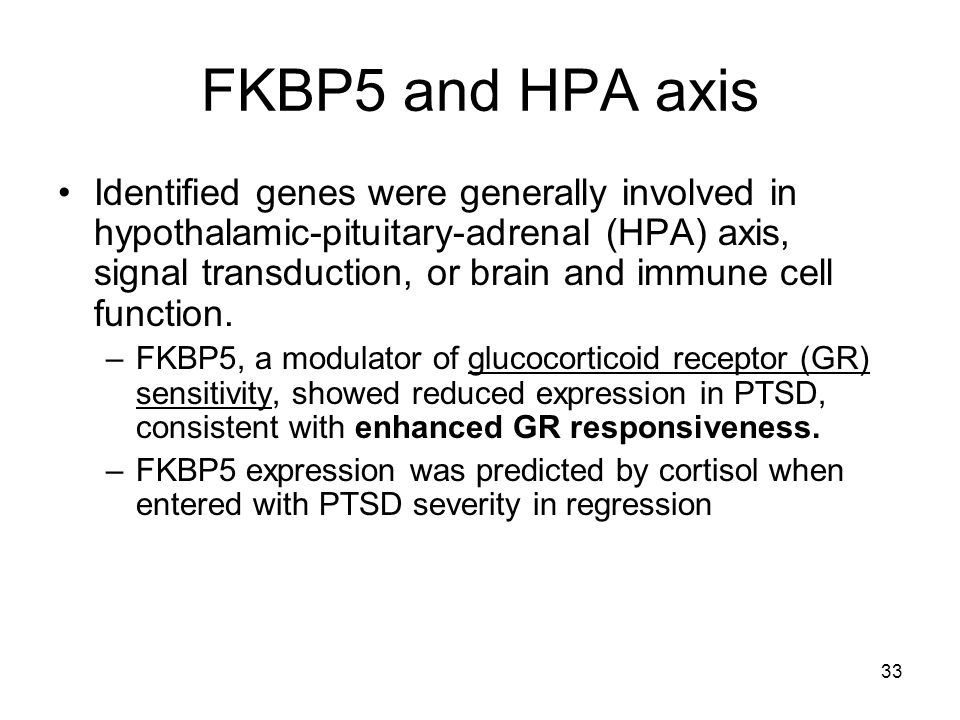 FKBP5 and HPA axis