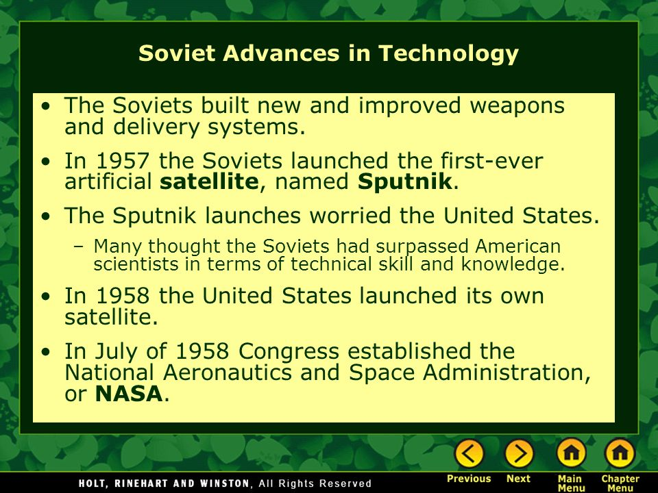 Soviet Advances in Technology