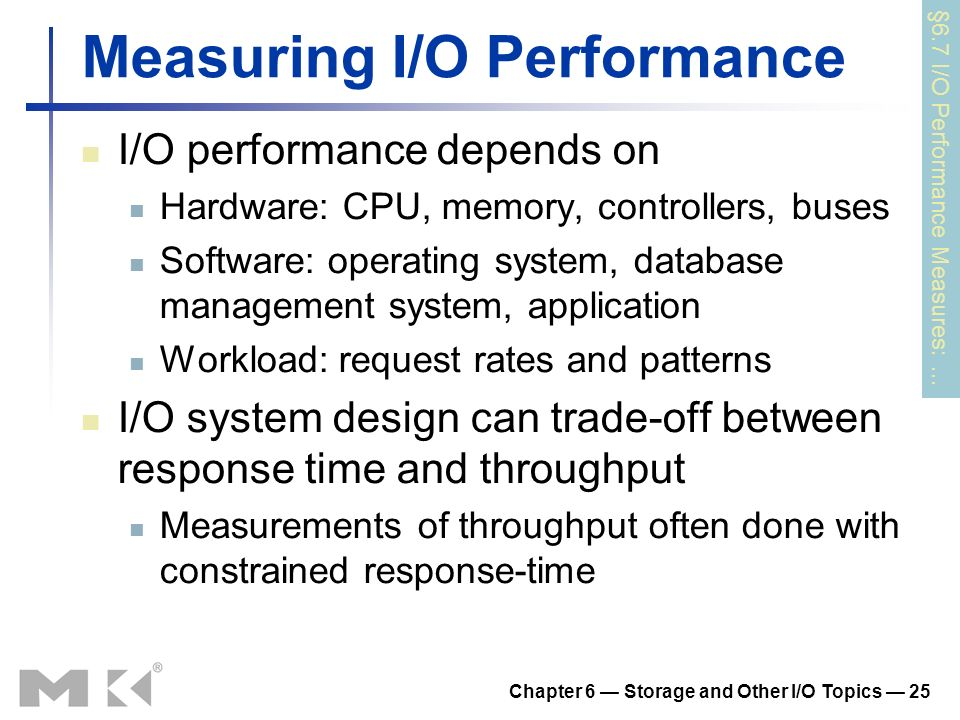 Measuring I/O Performance