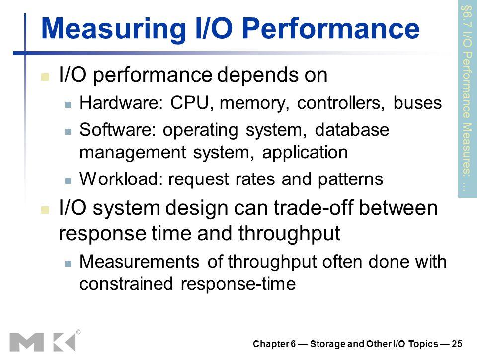 Measuring I/O Performance