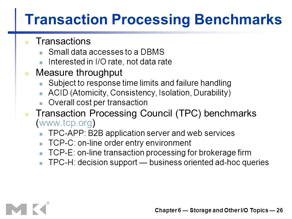 Transaction Processing Benchmarks