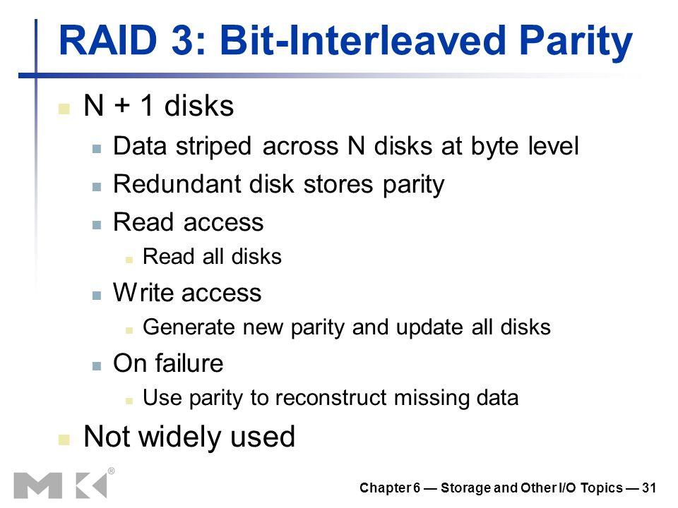 RAID 3: Bit-Interleaved Parity