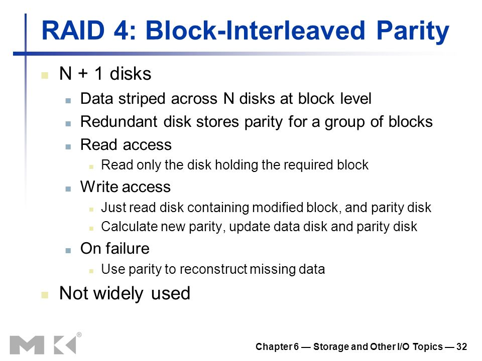 RAID 4: Block-Interleaved Parity