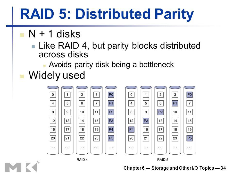 RAID 5: Distributed Parity
