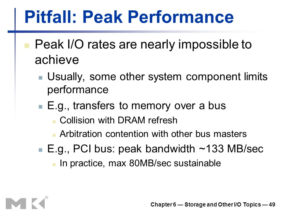 Pitfall: Peak Performance