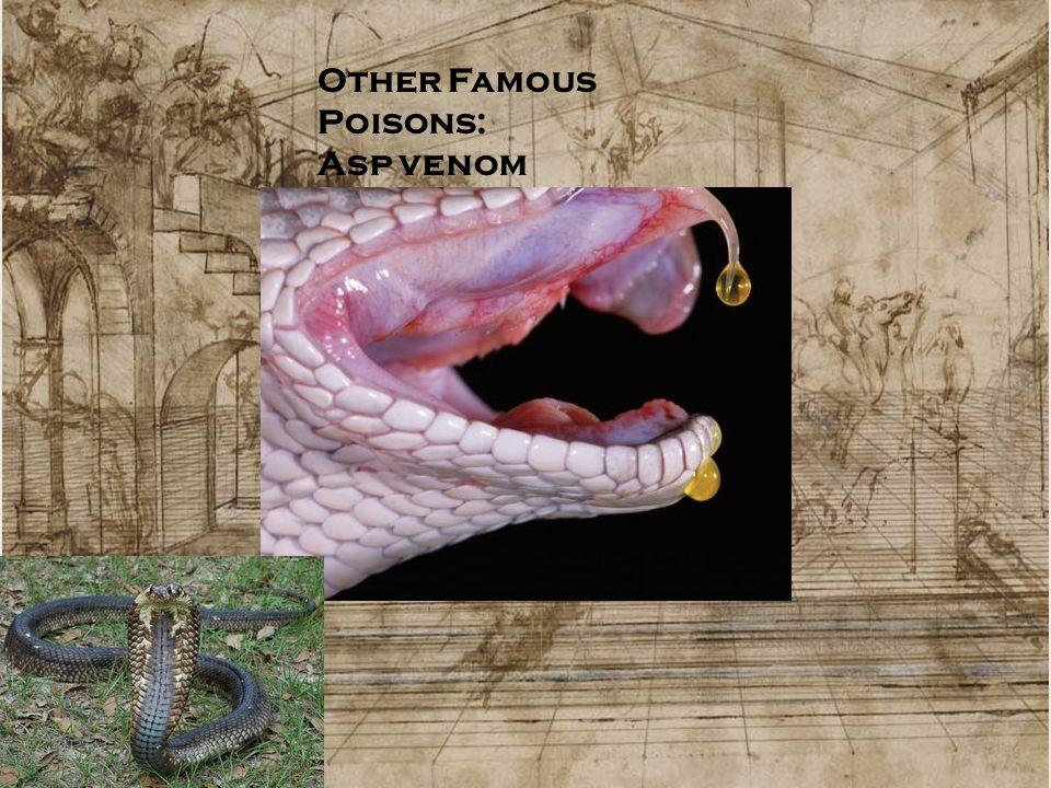 Other Famous Poisons: Asp venom