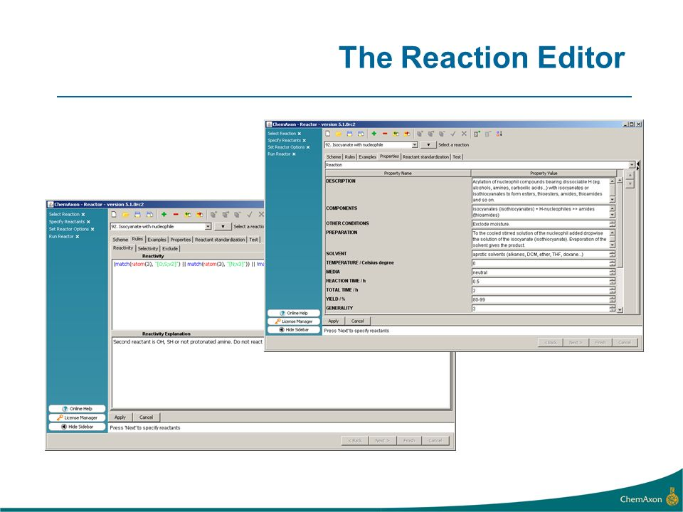 The Reaction Editor