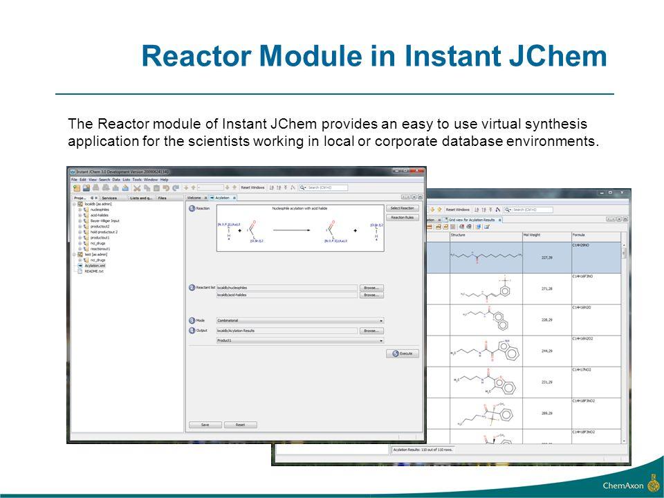 Reactor Module in Instant JChem