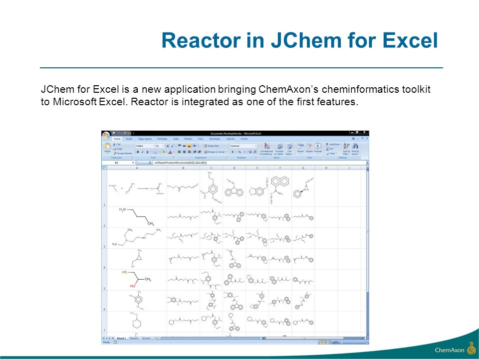 Reactor in JChem for Excel