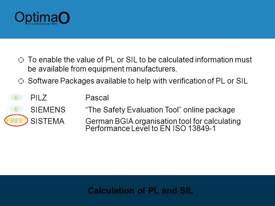 Calculation of PL and SIL