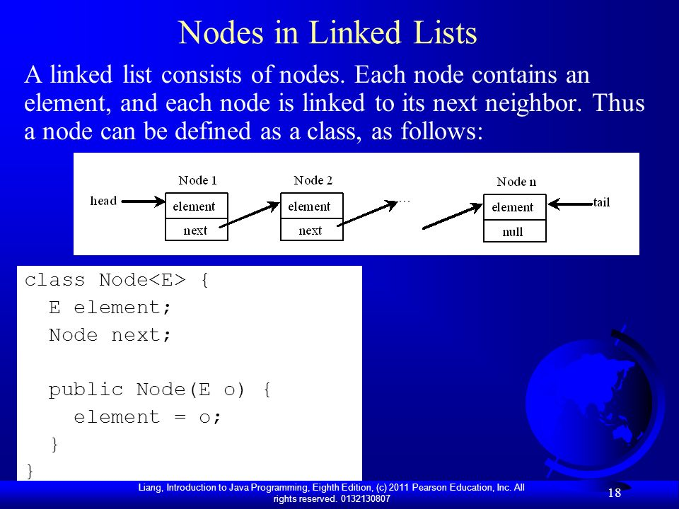 Nodes in Linked Lists