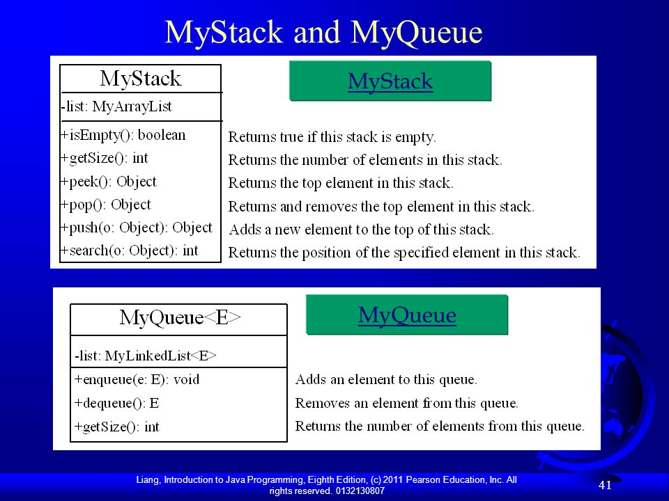 MyStack and MyQueue MyStack MyQueue
